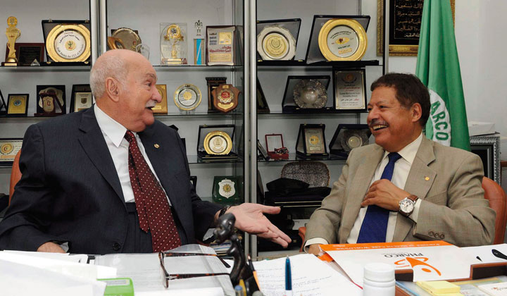 Dr. Ahmed Zewail and Dr. Hassan Abbas Helmy